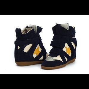 Isabel Marant Beckett Wedge Sneaker with Star